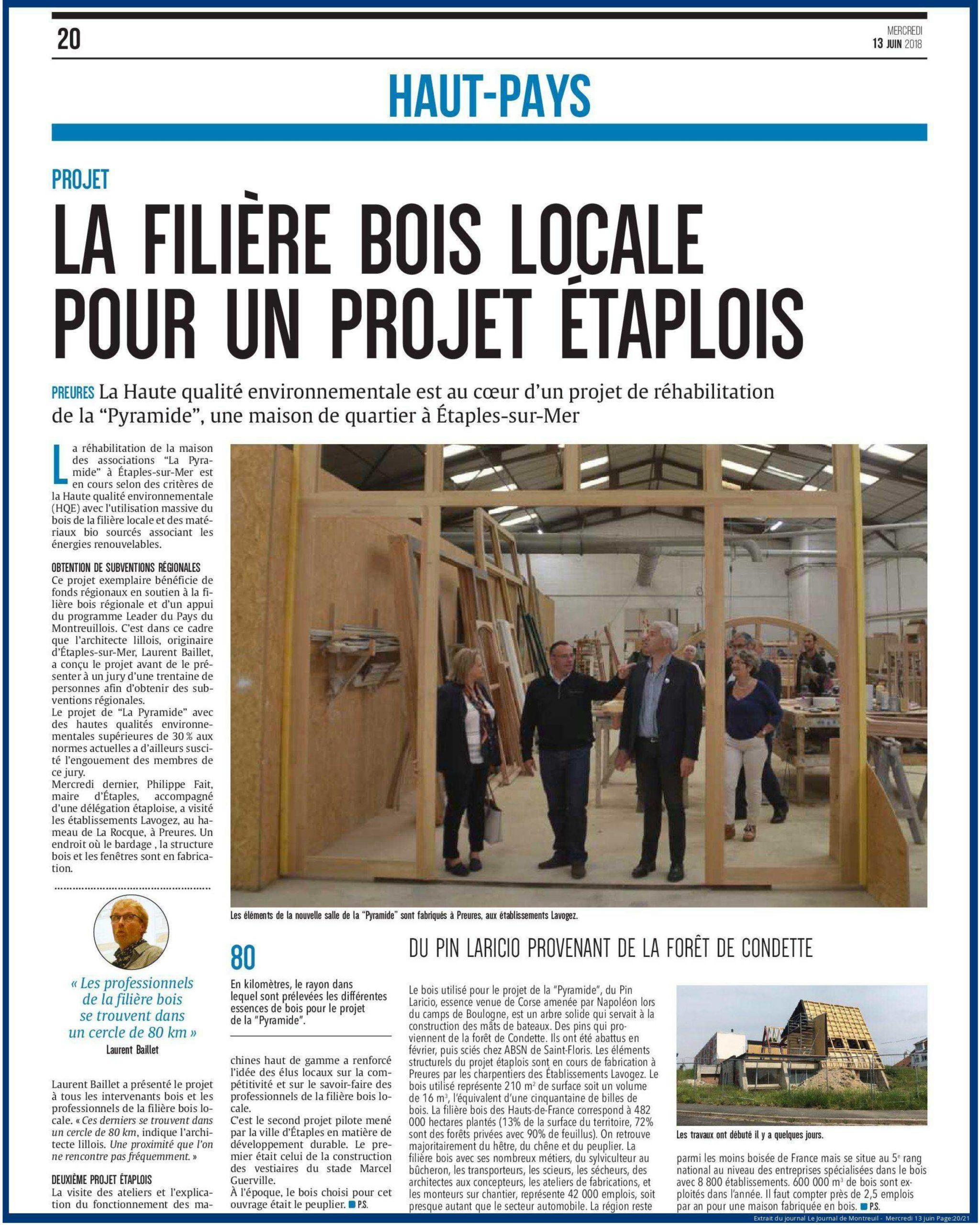 Read more about the article La filière bois locale pour un projet étaplois