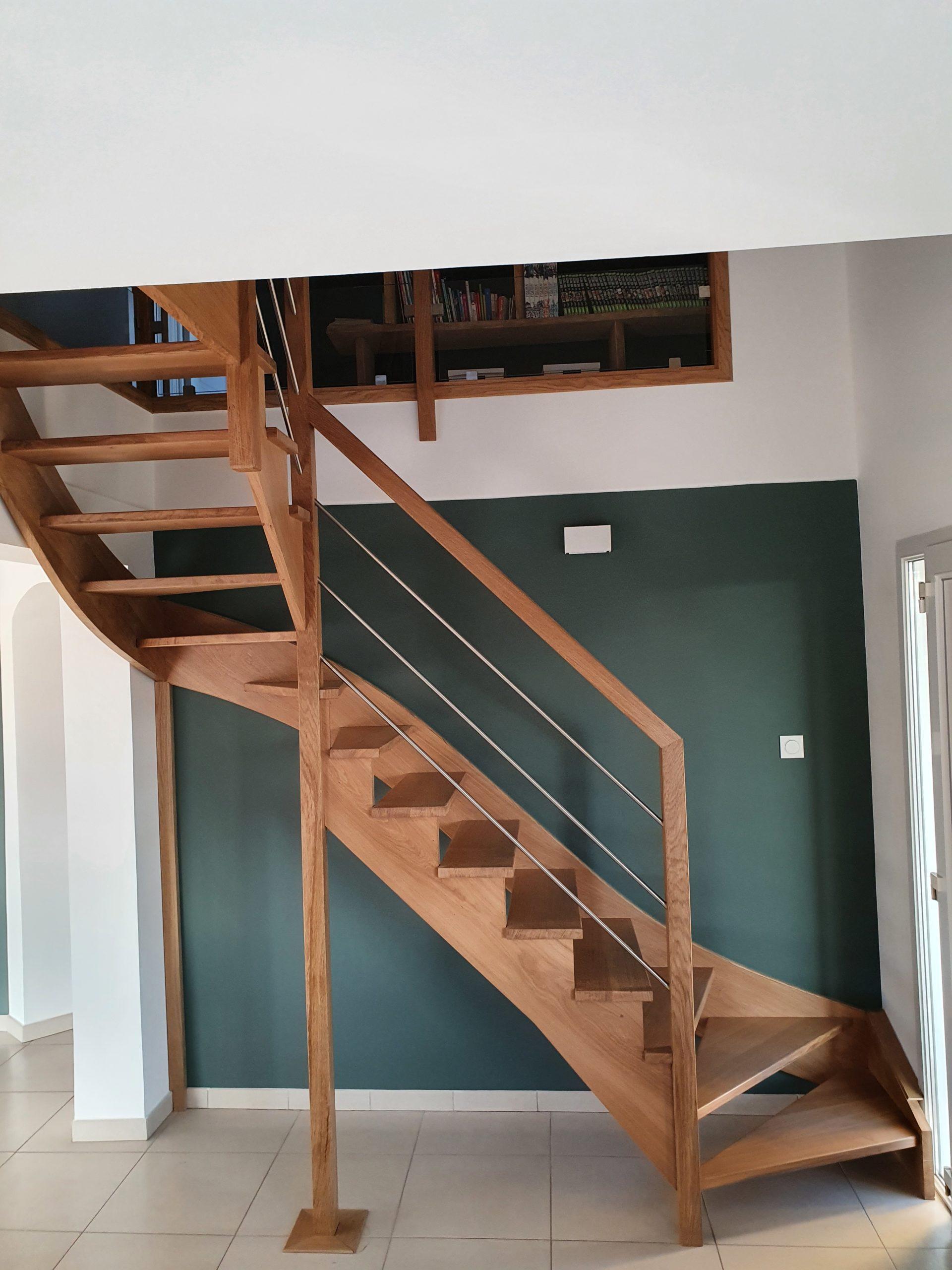 Escalier sur mesure en chêne
