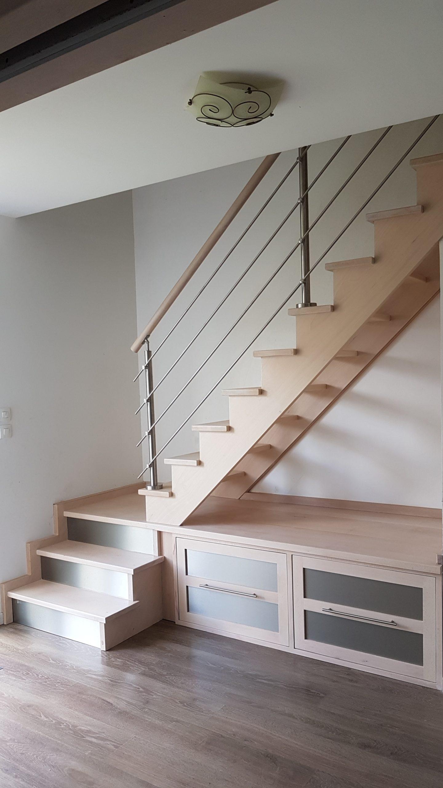 double cremaillere scm avec meuble sous escalier