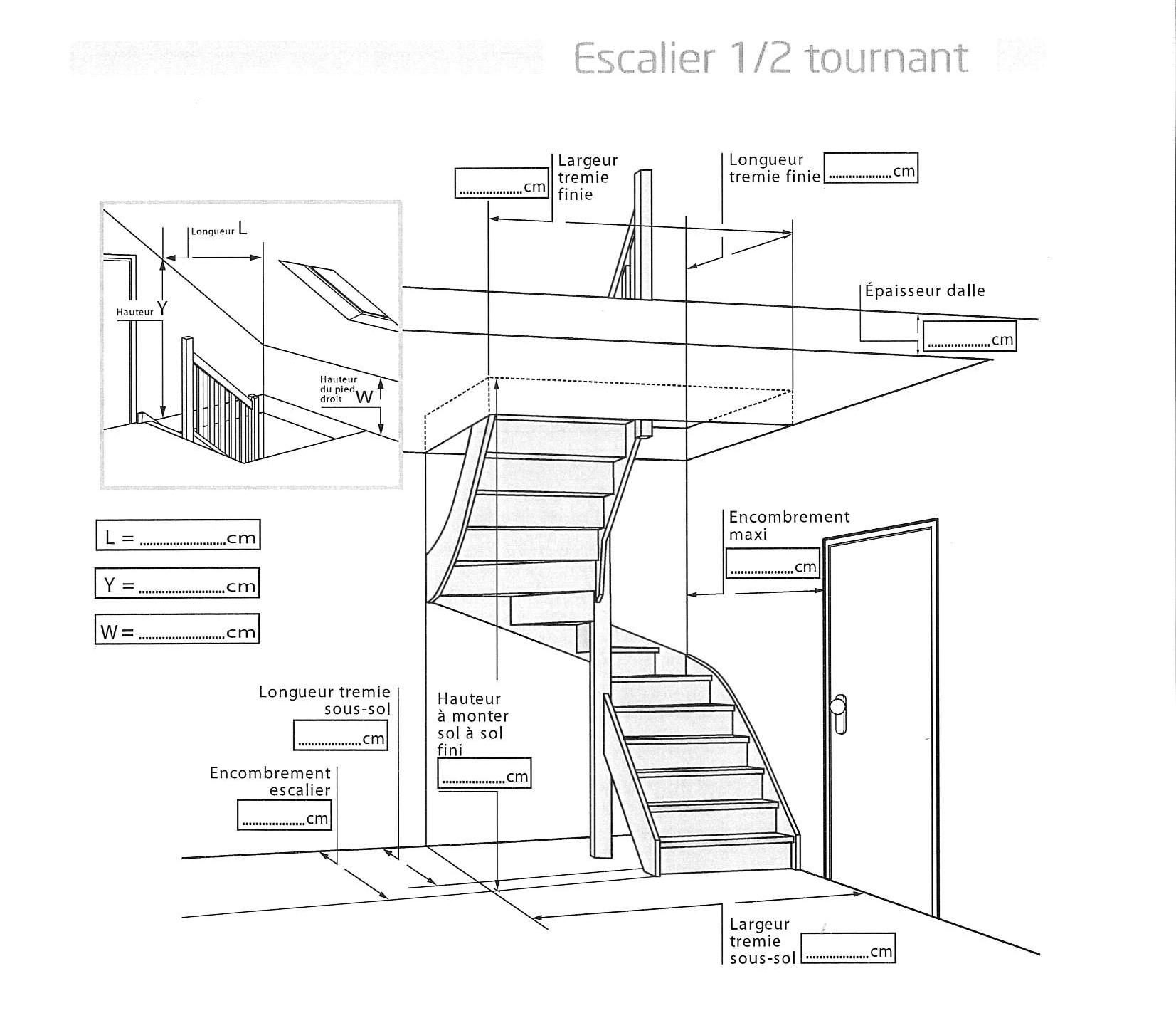 relever cotes escalier
